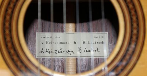Meine neue Heinzelmann/Leutzsch Gitarre