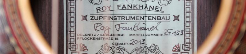 Meine neue Roy Fankhänel Gitarre